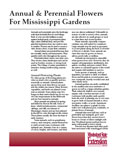 Annual and Perennial Flowers for Mississippi Gardens